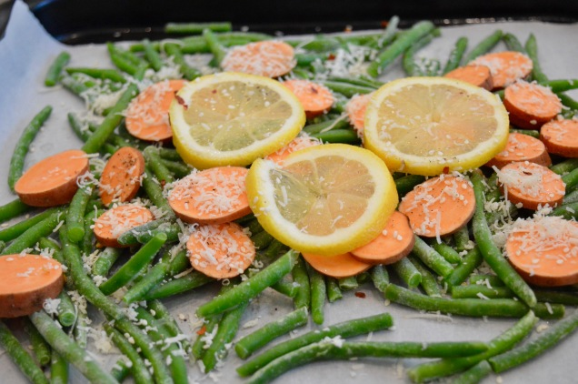 Green Beans and Sweet Potato