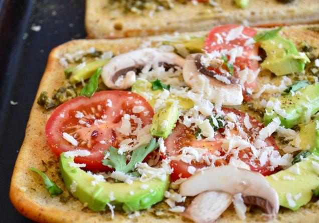 Prebaked Gluten Free Pesto Pizza