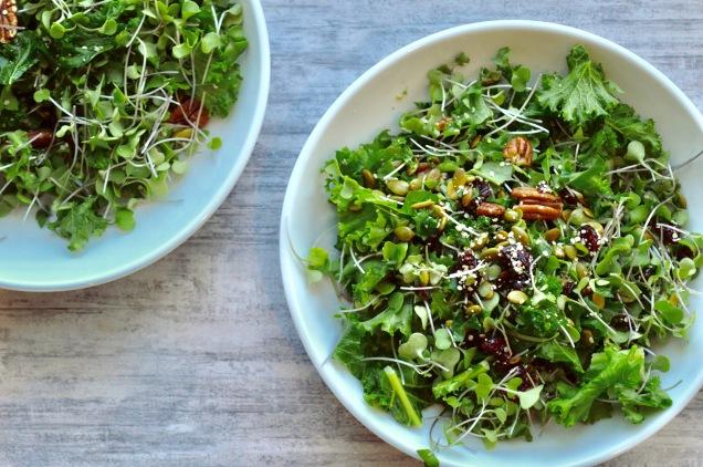 Micro Green Kale Salad 5