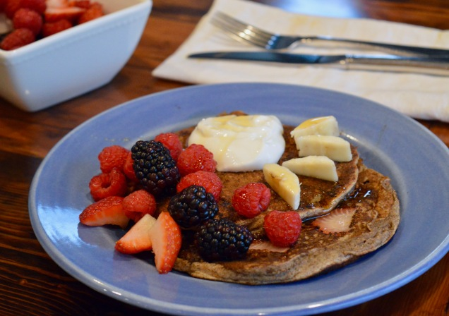 Delicious buckwheat pancakes