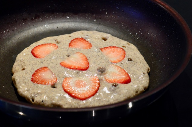 strawberry buckwheat pancakes